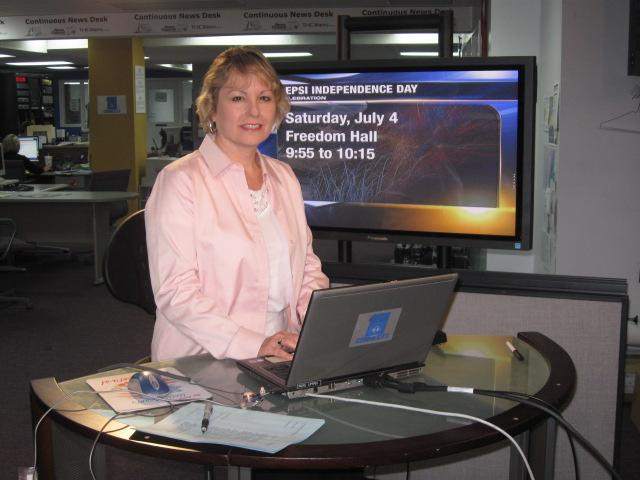 At the WJHL news desk during Part 1 of Social Media 101 series.