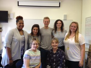 MarketingMel joined Nancy Williams' Milligan College P.R. class for mock job interviews.