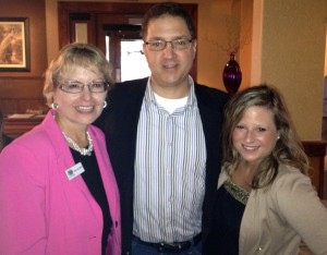 MarketingMel team of Mary Ellen Miller and Sarah Kinsler meet Gene De Libero of Digital Mindshare