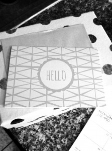 Lovely stationary inspires great letter writing.