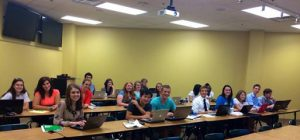 "Students in MarketingMel's ""Gettting Professional With LinkedIn"" workshop at Milligan College."