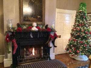 Beautiful Christmas decorations adorned the Martha Washington Inn weekend when we were there in early January.