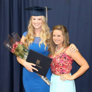 College graduates: MarketingMel's 2012-2013 intern Kristen Pierce with MarketingMel associate Sarah Kinsler.