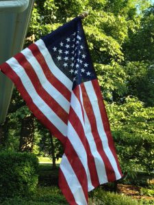 Old Glory waves at our Tennessee home
