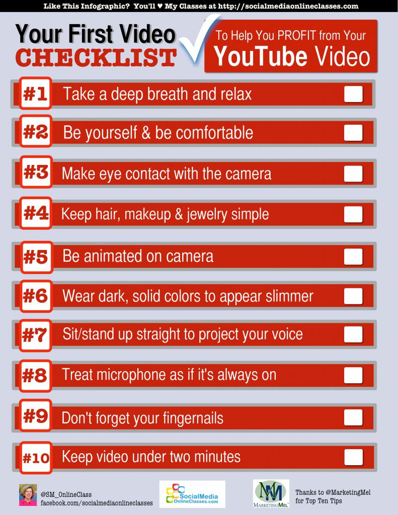 On camera do's and don'ts