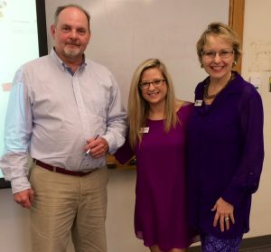Veteran Broadcaster Steve Hawkins and the MarketingMel team of Sarah Kinsler and Mary Ellen Miller.