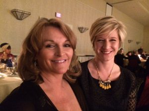 Recently elected Criminal Court Judge Lisa Rice and Washington County Commissioner Katie Baker at an ETSU event.