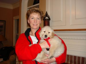 Barbara and Jake the puppy